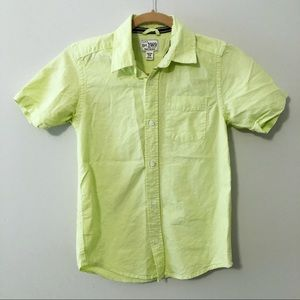 Children's Place Neon Lime Green Button Down Shirt